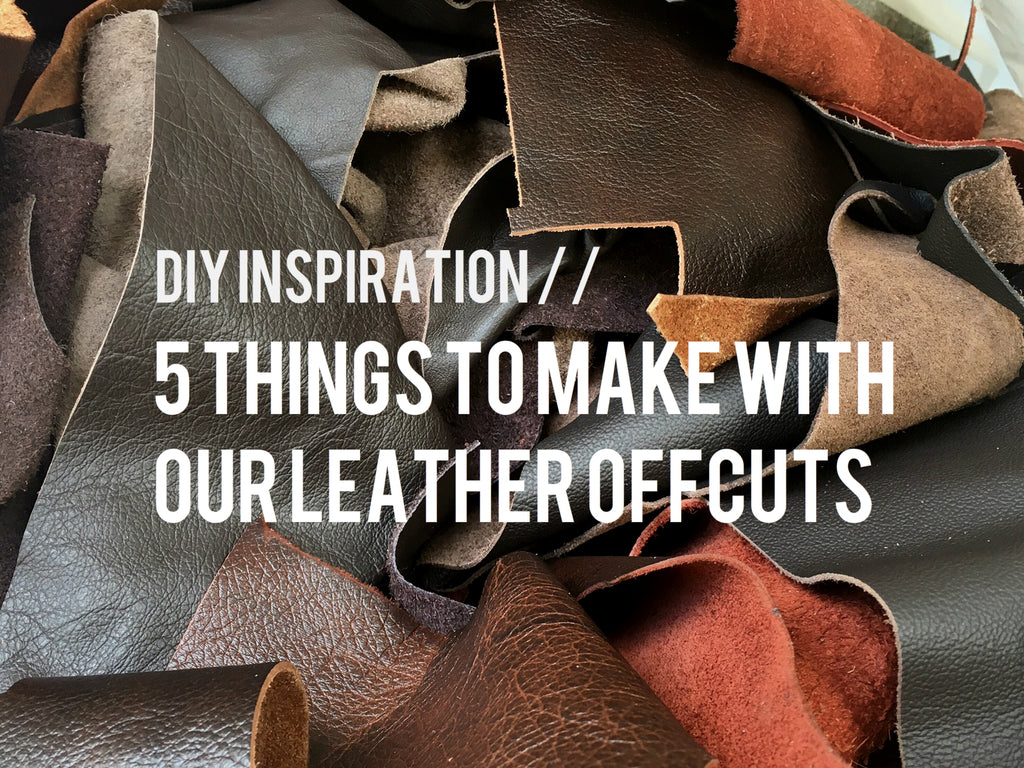 DIY Inspiration // Leather Upholstery Offcuts Project Ideas // The Leather Shed