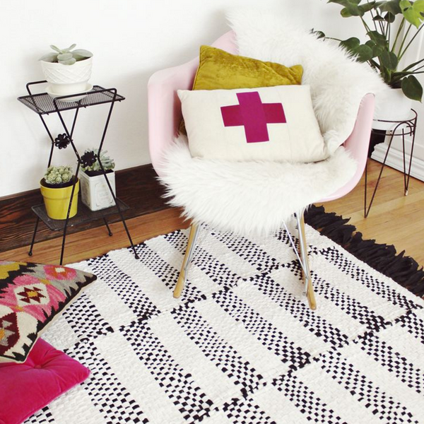DIY Woven Rug by A Beautiful Mess