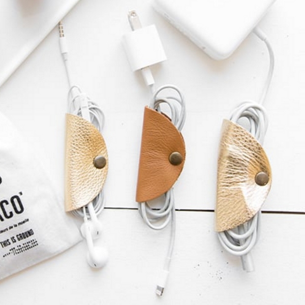 Handmade Leather Cord Taco // The Leather Shed Blog