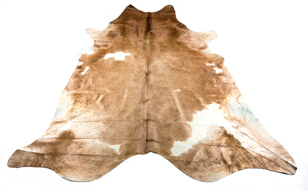 Caramel White Cow Hide  Rug - FREE SHIPPING