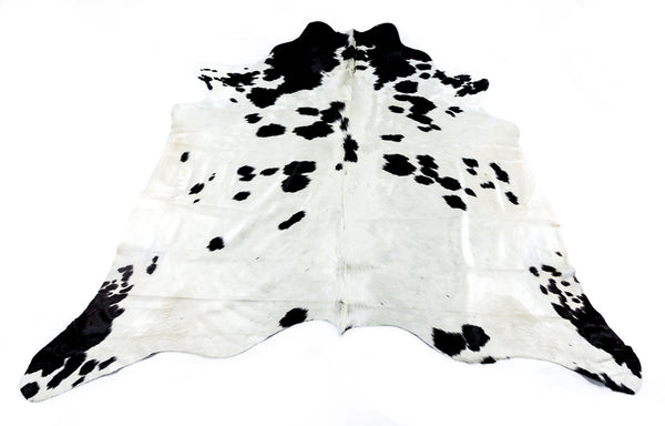 Friesian White Cow Hide  Rug - FREE SHIPPING