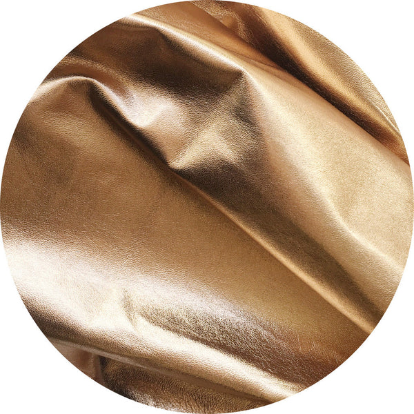 Metallic Gold Lamb Leather | East Coast Leather, Australia