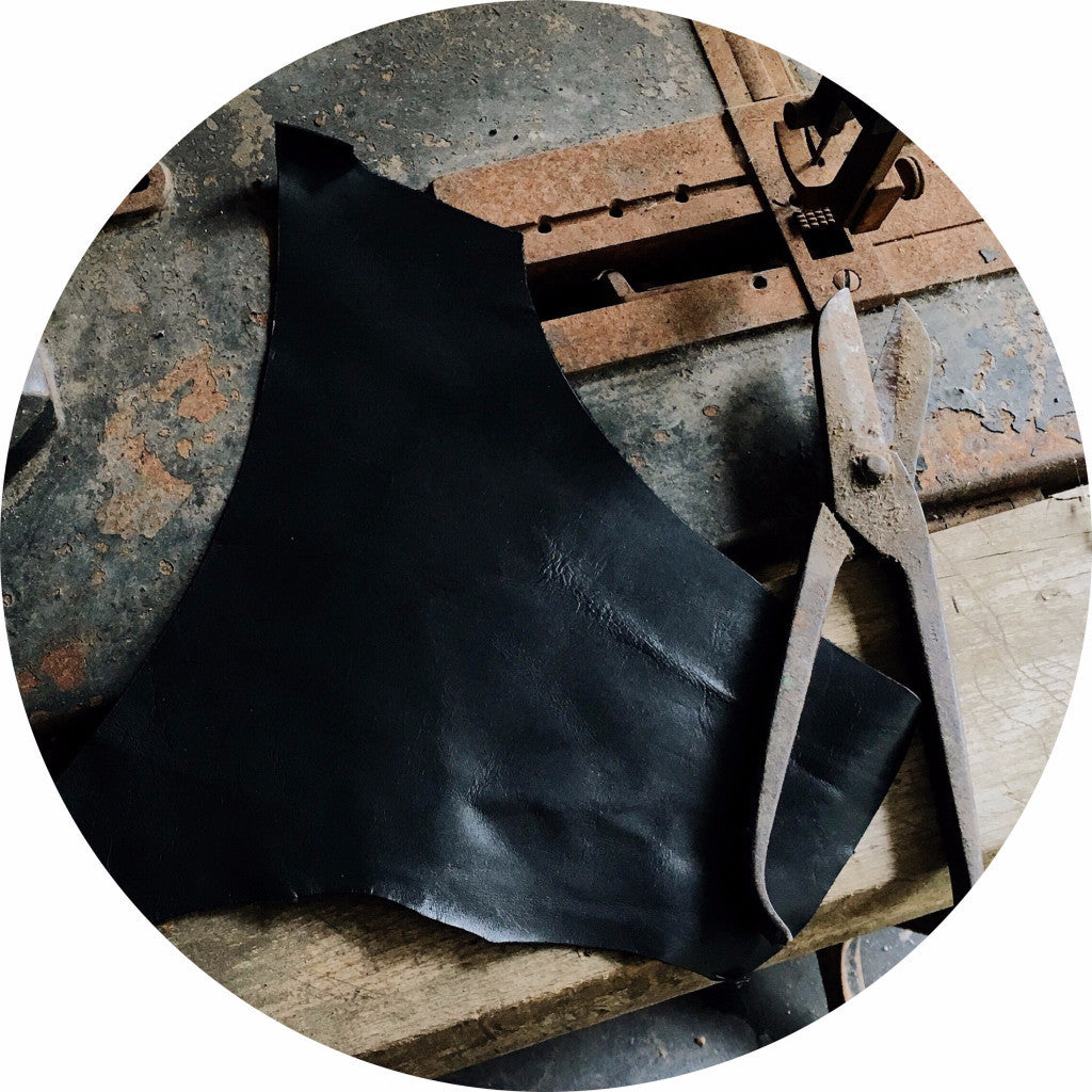 Black kangaroo leather scrap | East Coast Leather, Brisbane Australia