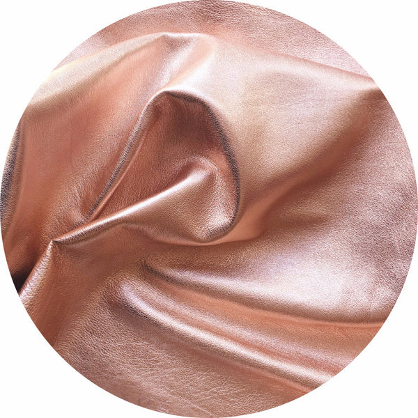 Metallic rose gold leather | East Coast Leather, wholesale leather supplies Australia