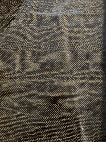 Dark Brown Snake Print