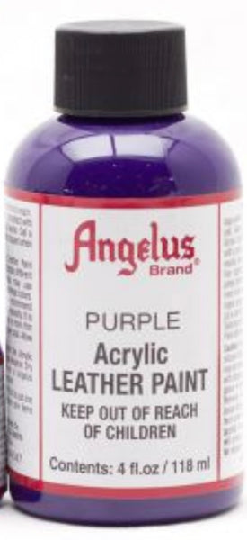 Angelus acrylic leather paint - 118ml bottles