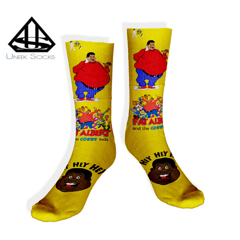 fat albert gold socks
