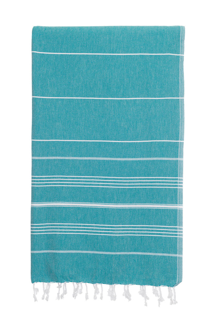 Turkish Towel Co Teal Turkish Towel Originals 100% Cotton