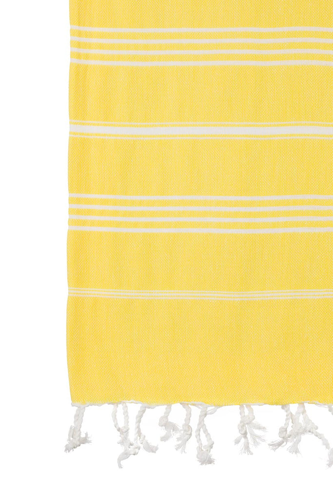 Turkish Towel Co Bright Yellow Turkish Towel