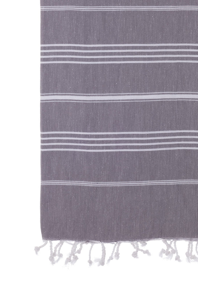 Turkish Towel Co Charcoal 100% Cotton Turkish Towel Buy Online