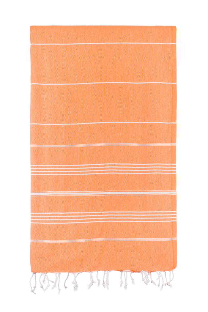 Turkish Towel Co Orange Classic Original Turkish Towel