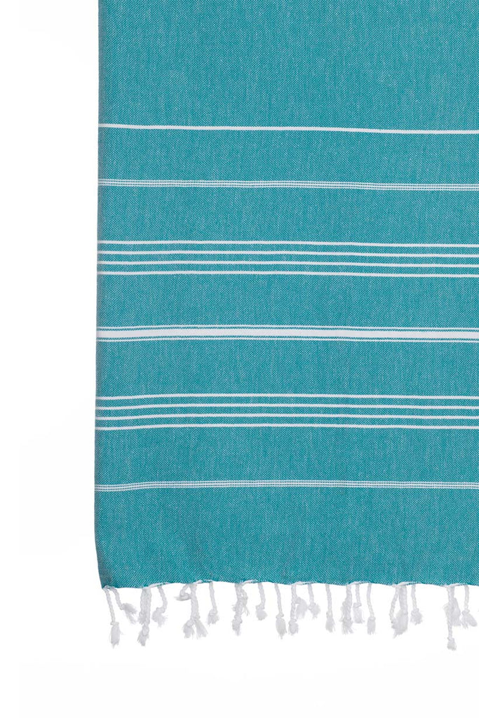 Turkish Towel Co Teal Turkish Towel Originals 100% Cotton Towel