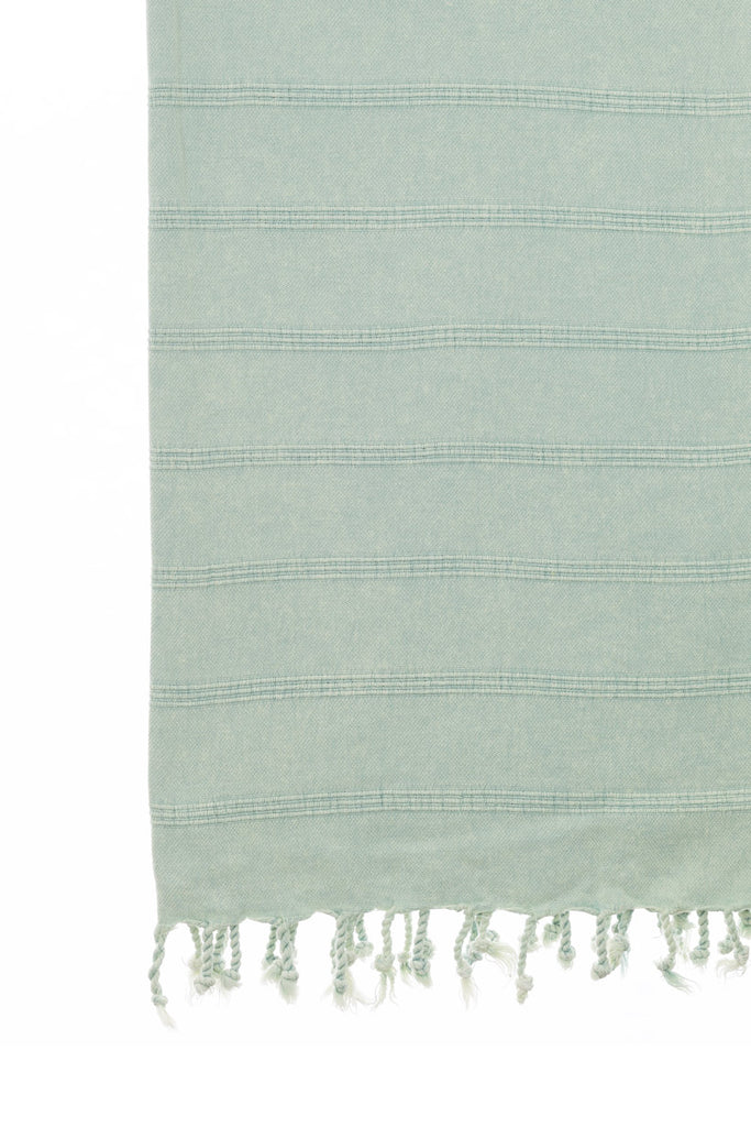 Stone Wash Turkish Towel Co 100% stonewash towels beach Mint