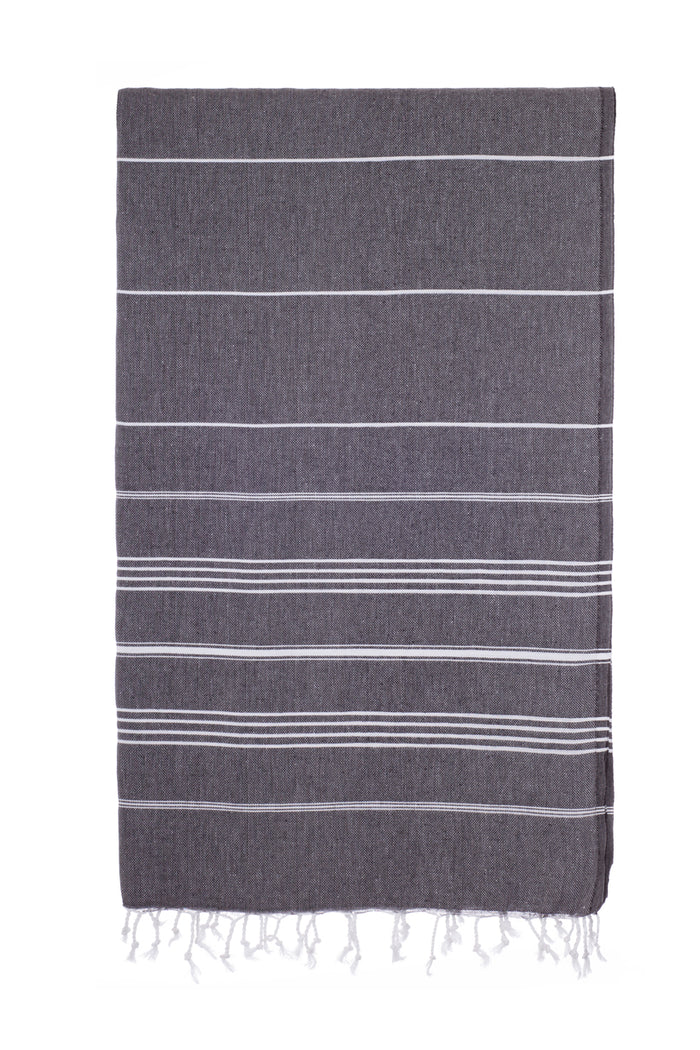 Turkish Towel Co Black Turkish Towel 100% Cotton