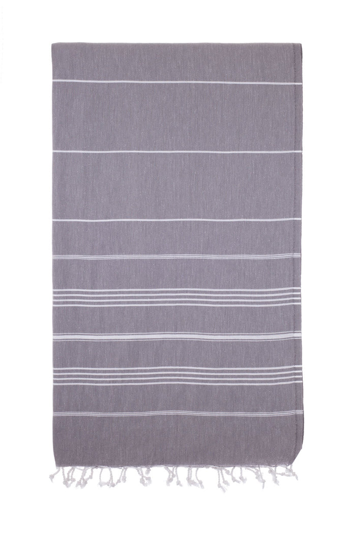 Turkish Towel Co Charcoal 100% Cotton Turkish Towels Buy Online