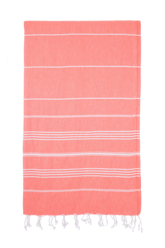 Turkish Towel Co Coral Turkish Towel 100% Cotton Buy Online