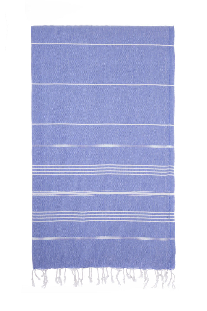 Turkish Towel Co Denim Blue 100% Cotton Beach Towels