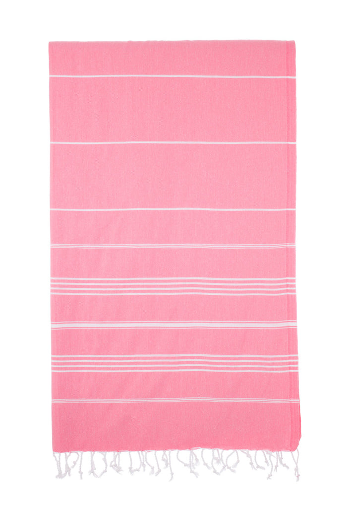 Turkish Towel Co Pink Cotton Turkish Towel 100% Cotton Online