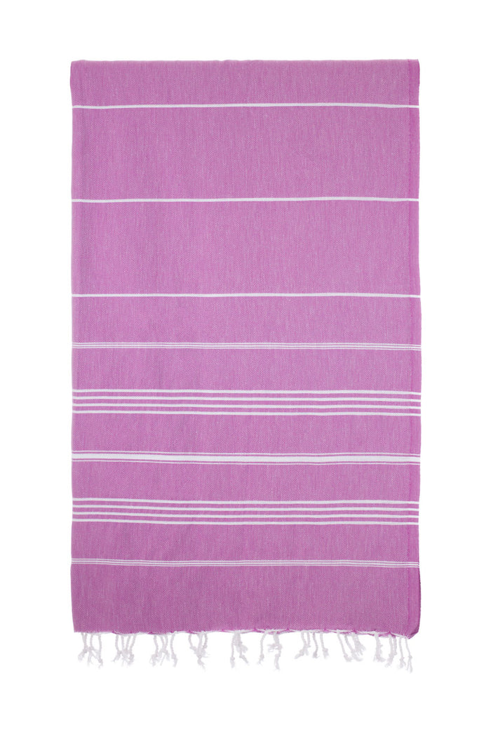 Turkish Towel Co Classic Purple 1--% Cotton Beach Towel Online