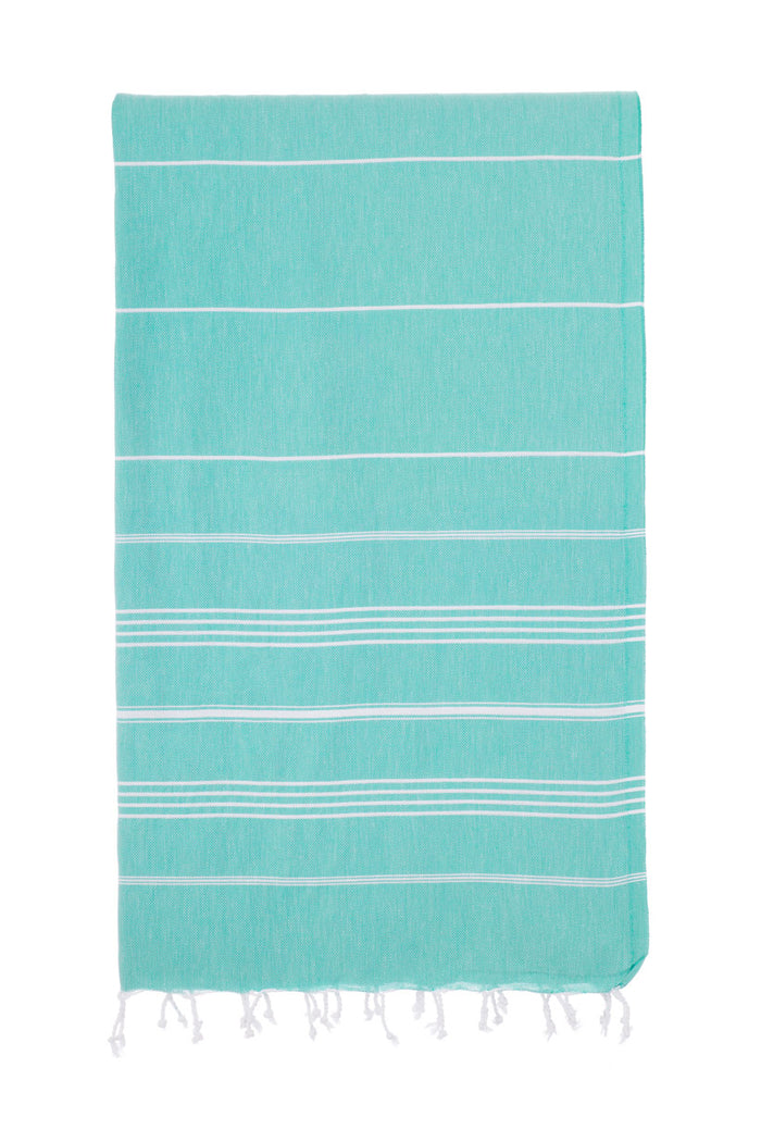 Turkish Towel Co Sea Green 100% Turkish Cotton Beach Towel