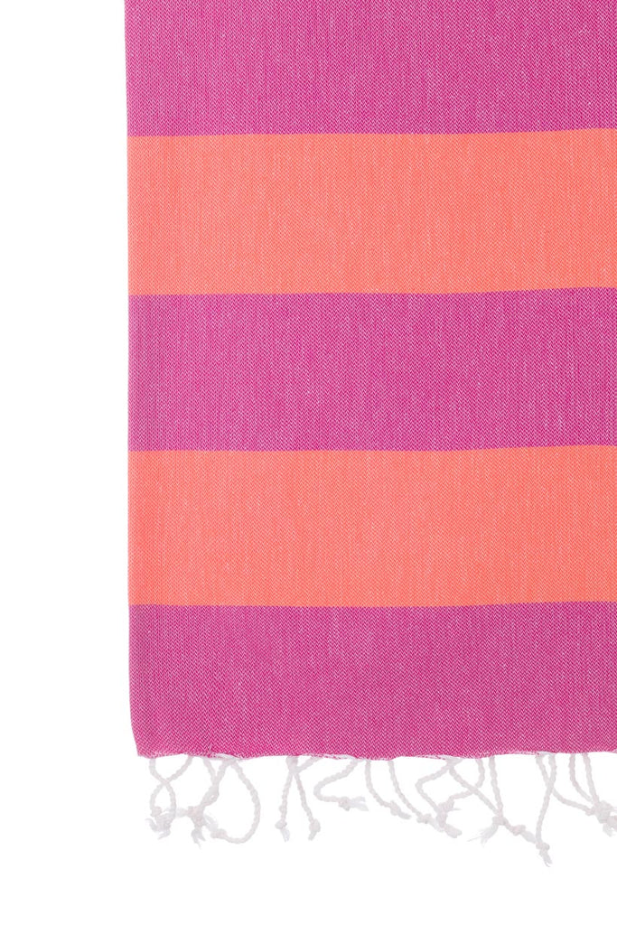 Turkish Towel Co 100% Cotton Towels Fuchsia & Coral Shop Online