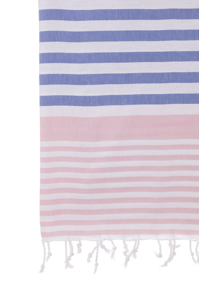 Turkish Towel Co Powder Pink & Navy 100% Cotton Turkish Towesl Online