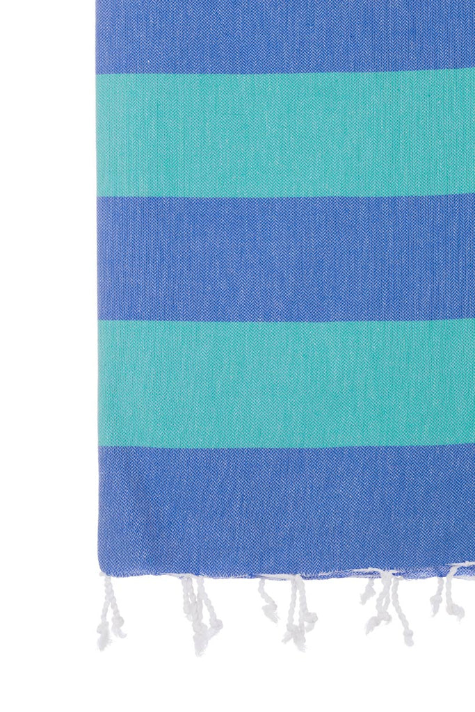 Turkish Towel Co Royal Blue & Sea Green Beach Turkish Towels