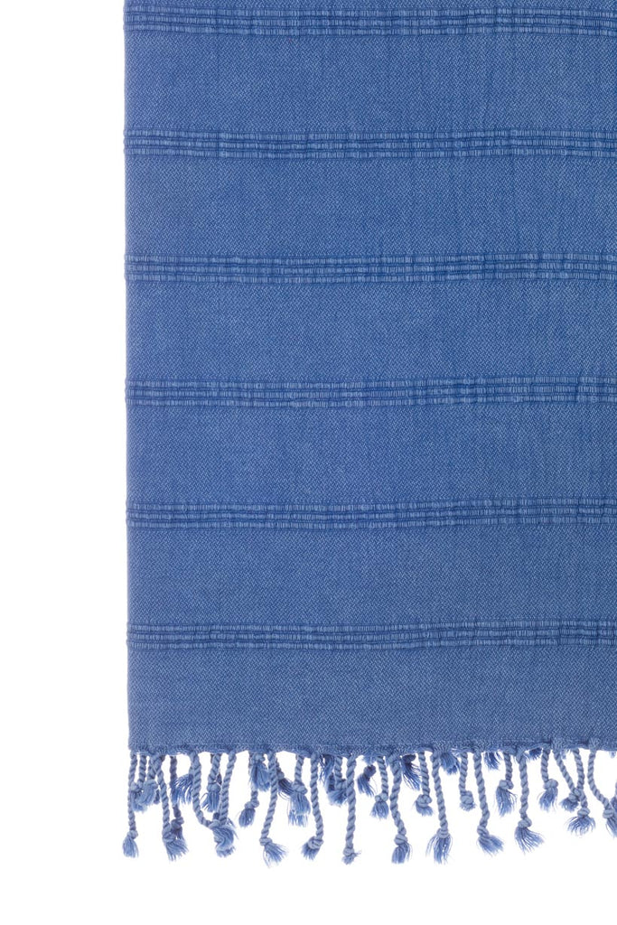Stonewash Blue Turkish Towel 100% Cotton Only at Turkish Towel Co