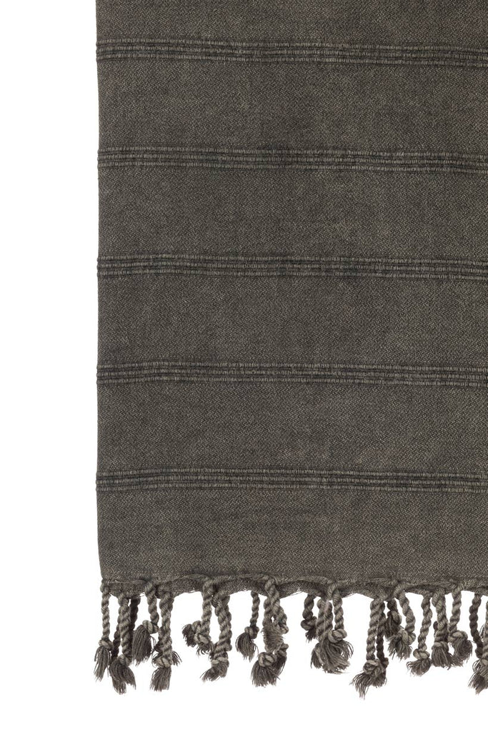 Turkish Towel Co Stonewash Black Towel