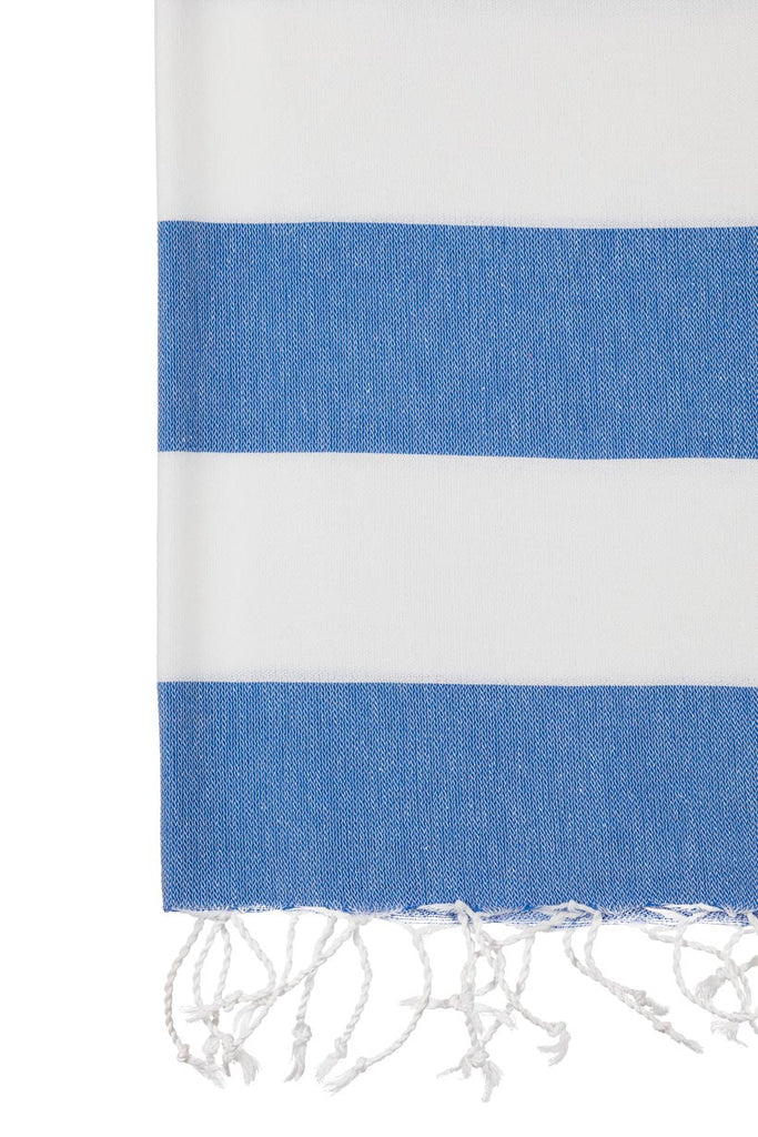 Turkish Towel Co Stripe Royal Blue
