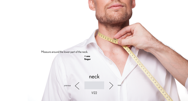 measurement neck made to measure once a day