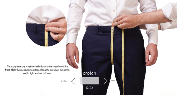 measurement crotch made to measure once a day