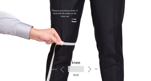 measurement knee made to measure once a day