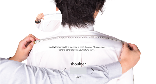 measurement shoulder made to measure once a day