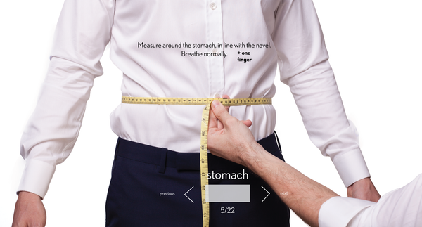 measurement stomach made to measure once a day
