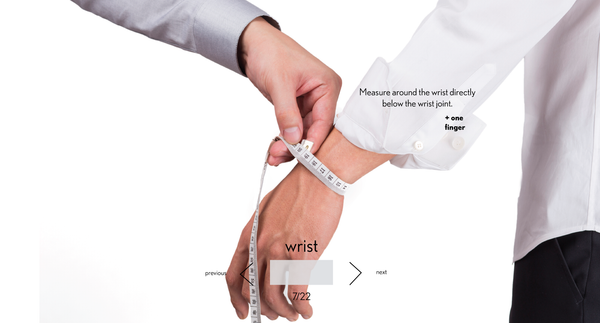 measurement wrist made to measure once a day