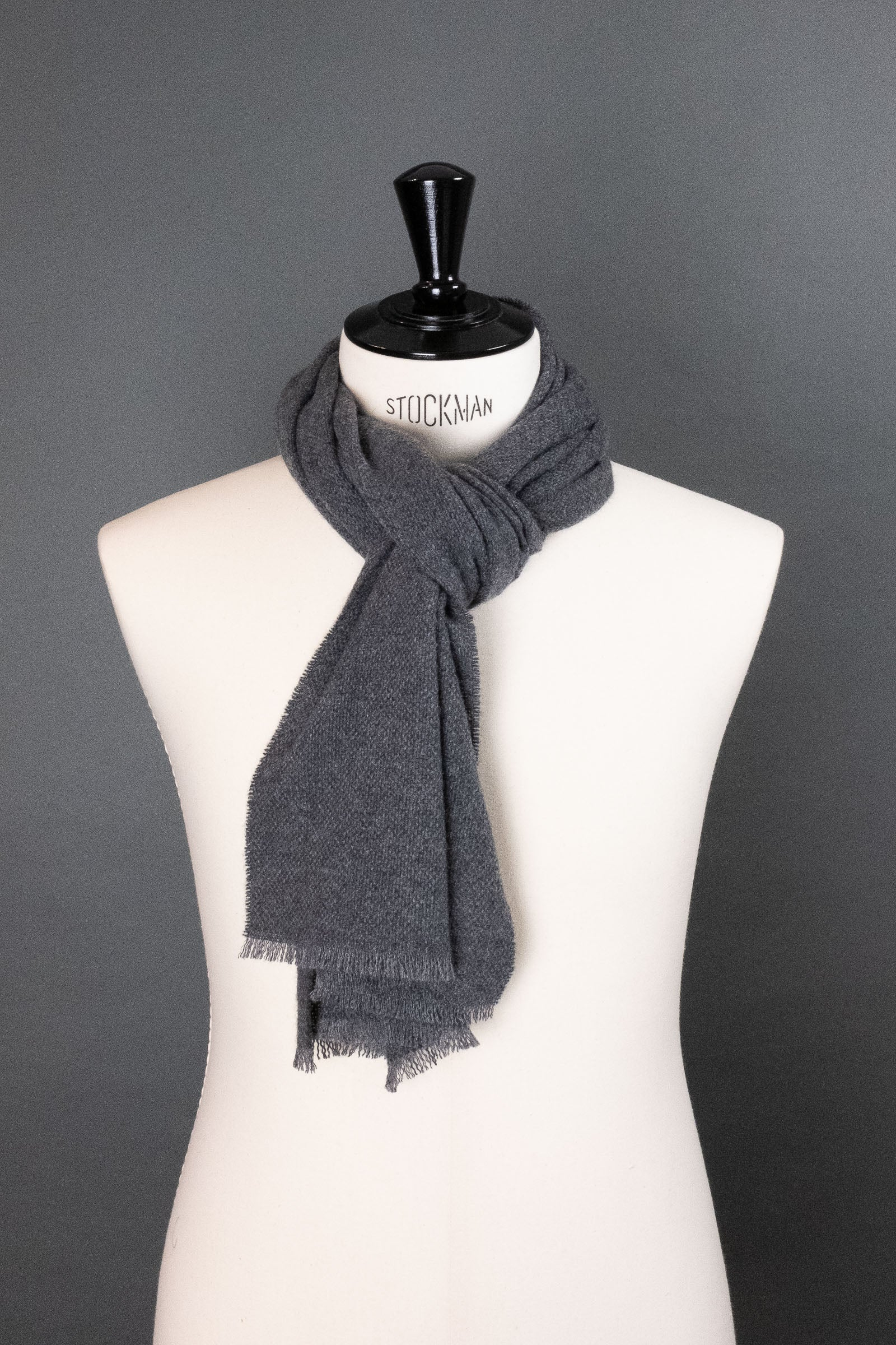 City Gray Cashmere Scarf