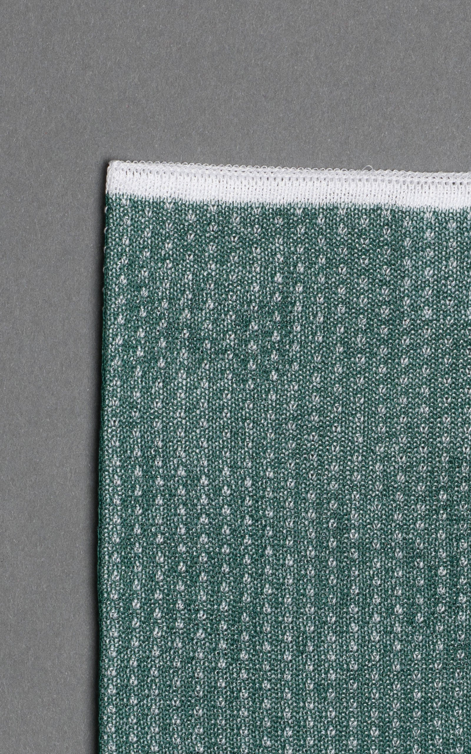 Green Noise Knitted Cotton Pocket Square