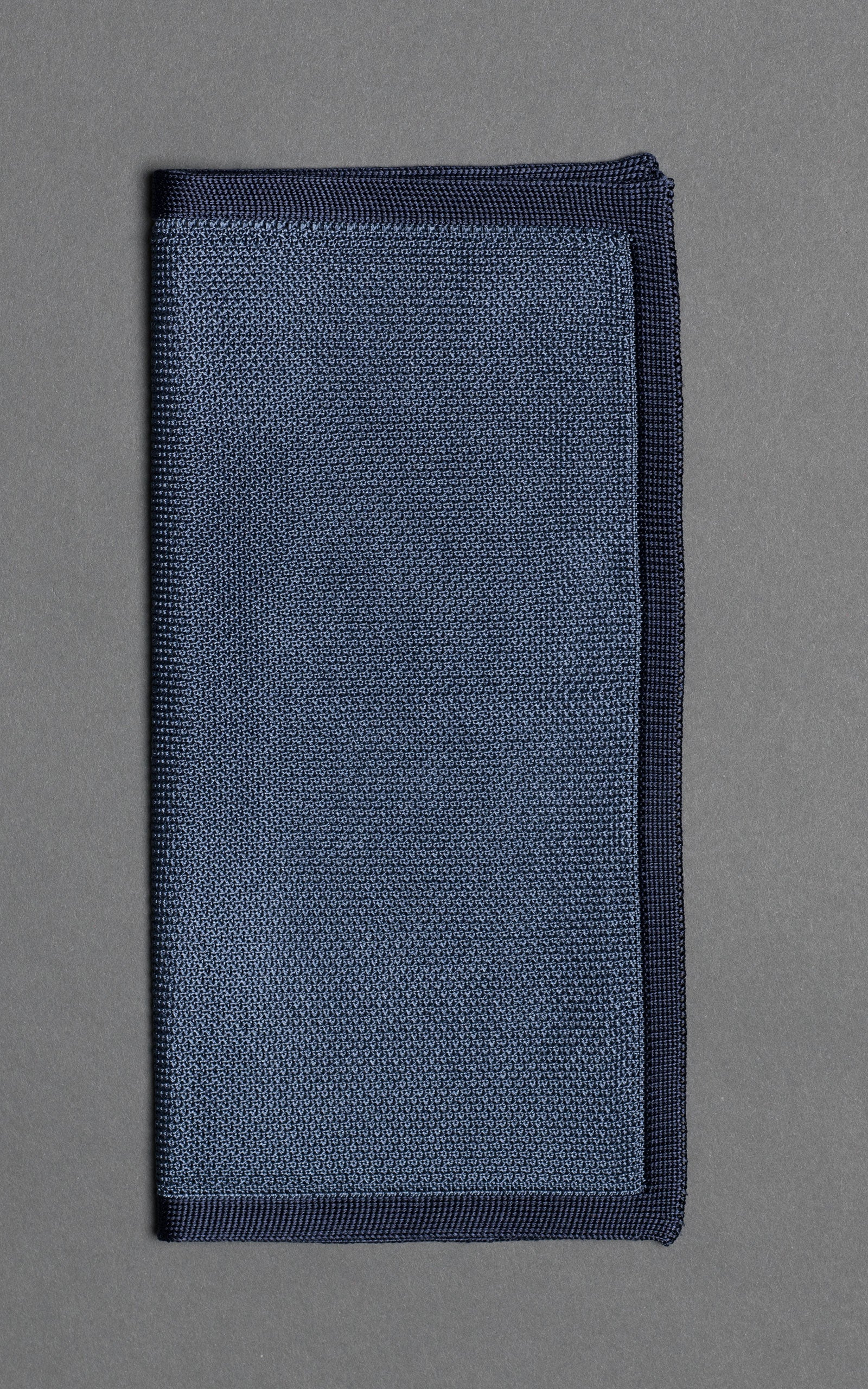 Blue Noise Knitted Silk Pocket Square