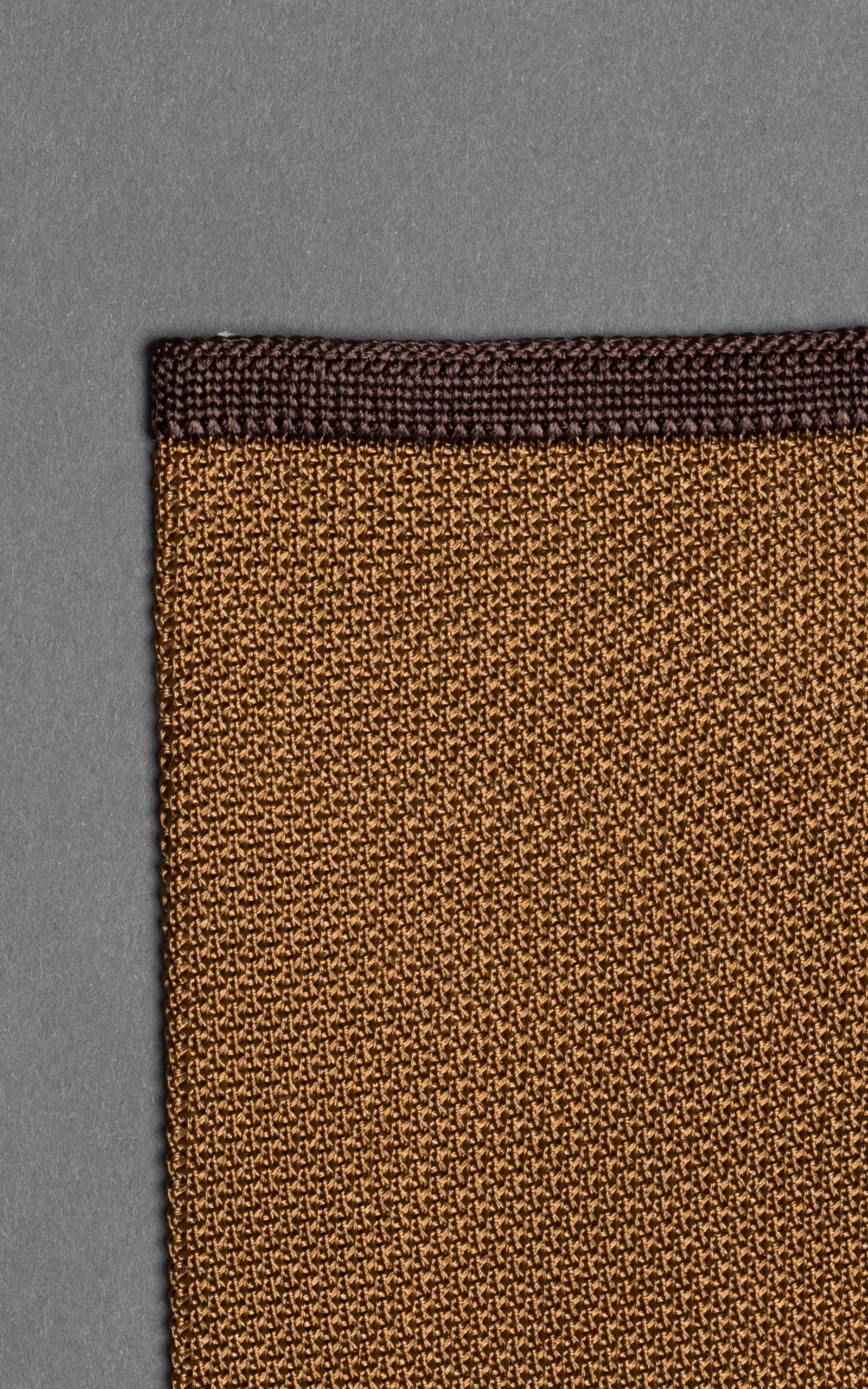 Brown Noise Knitted Silk Pocket Square