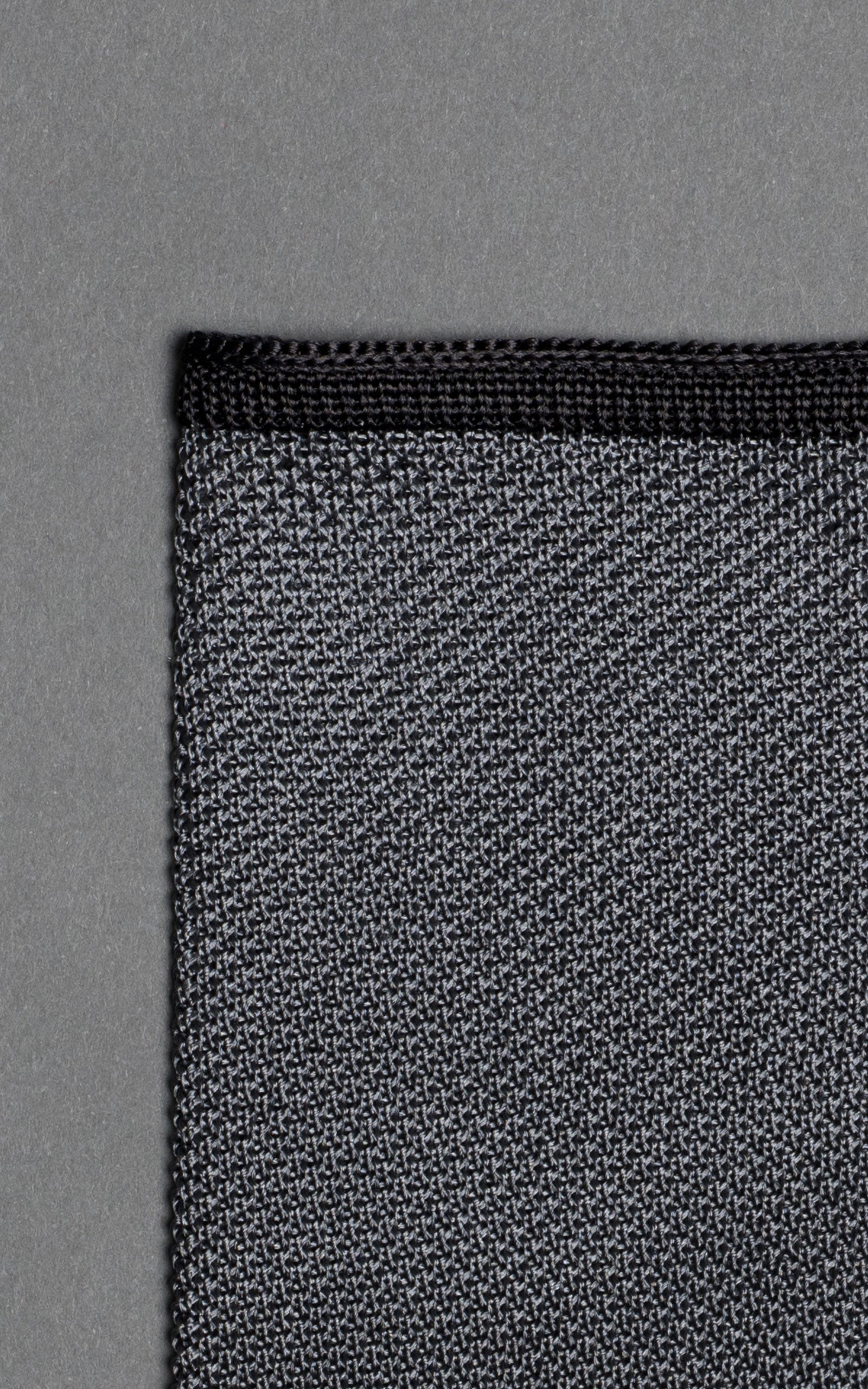 Black Noise Knitted Silk Pocket Square