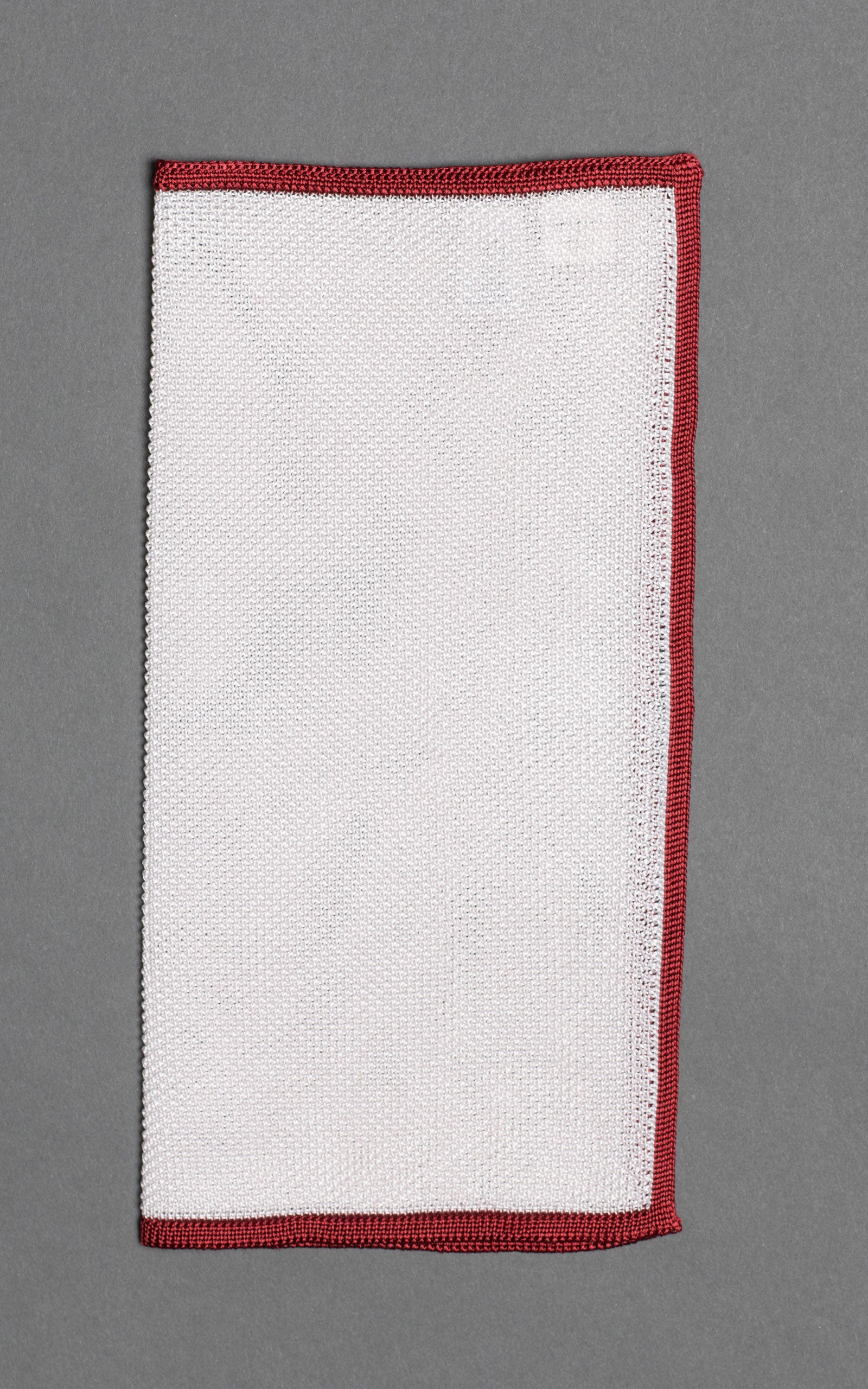 Red Frame Knitted Silk Pocket Square