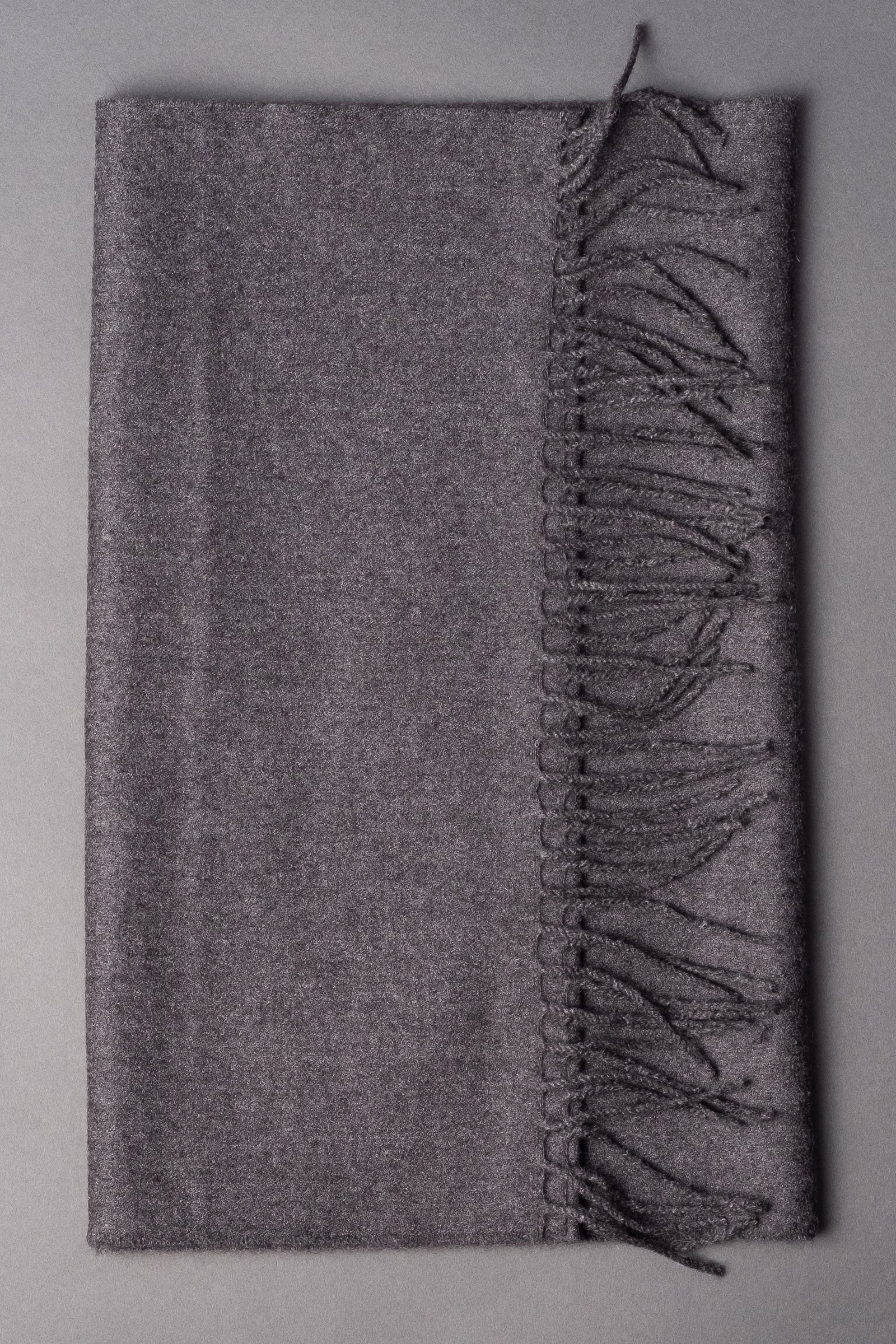 Gray Wide Cashmere Scarf