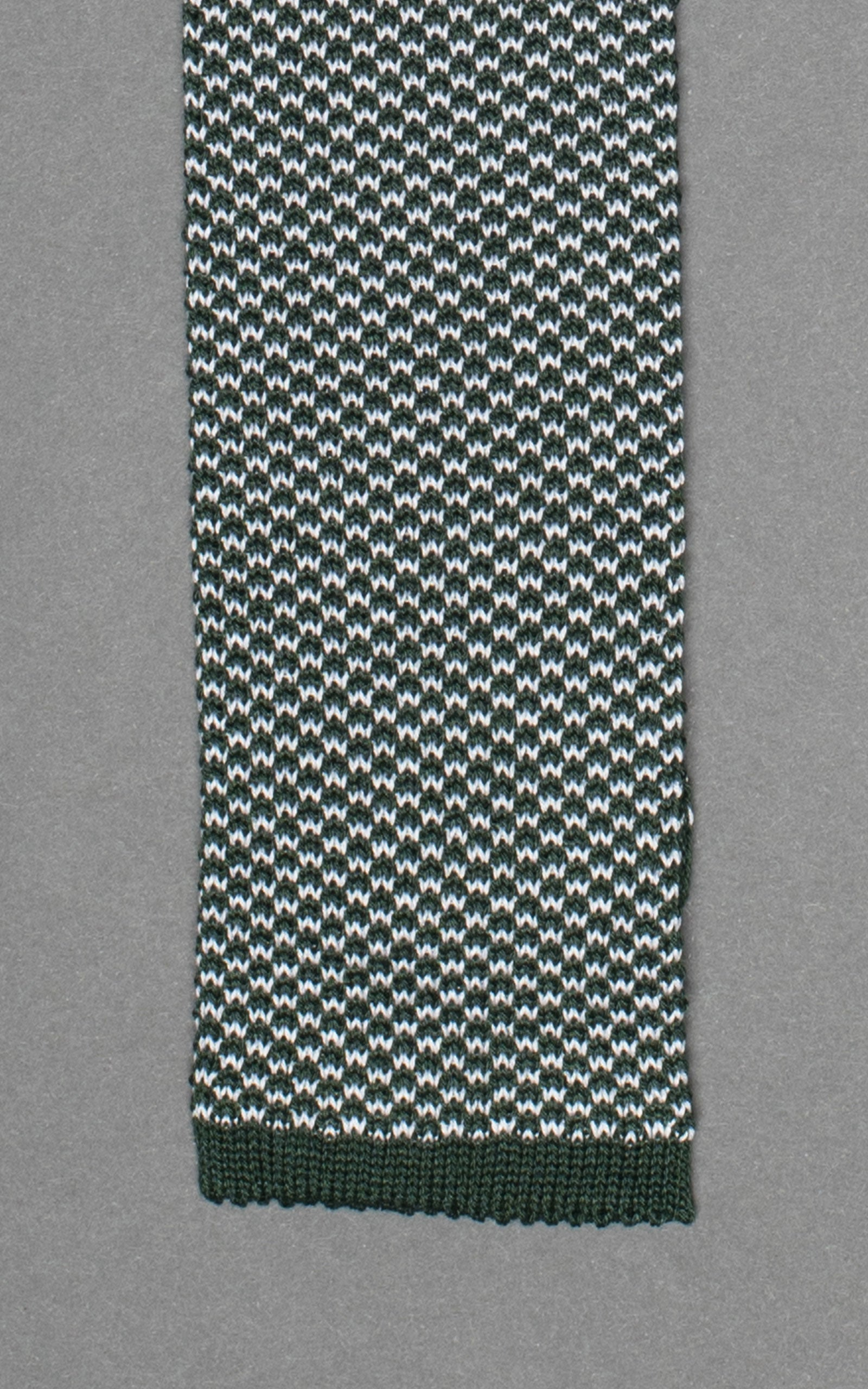 Green Noise Knitted Cotton Tie