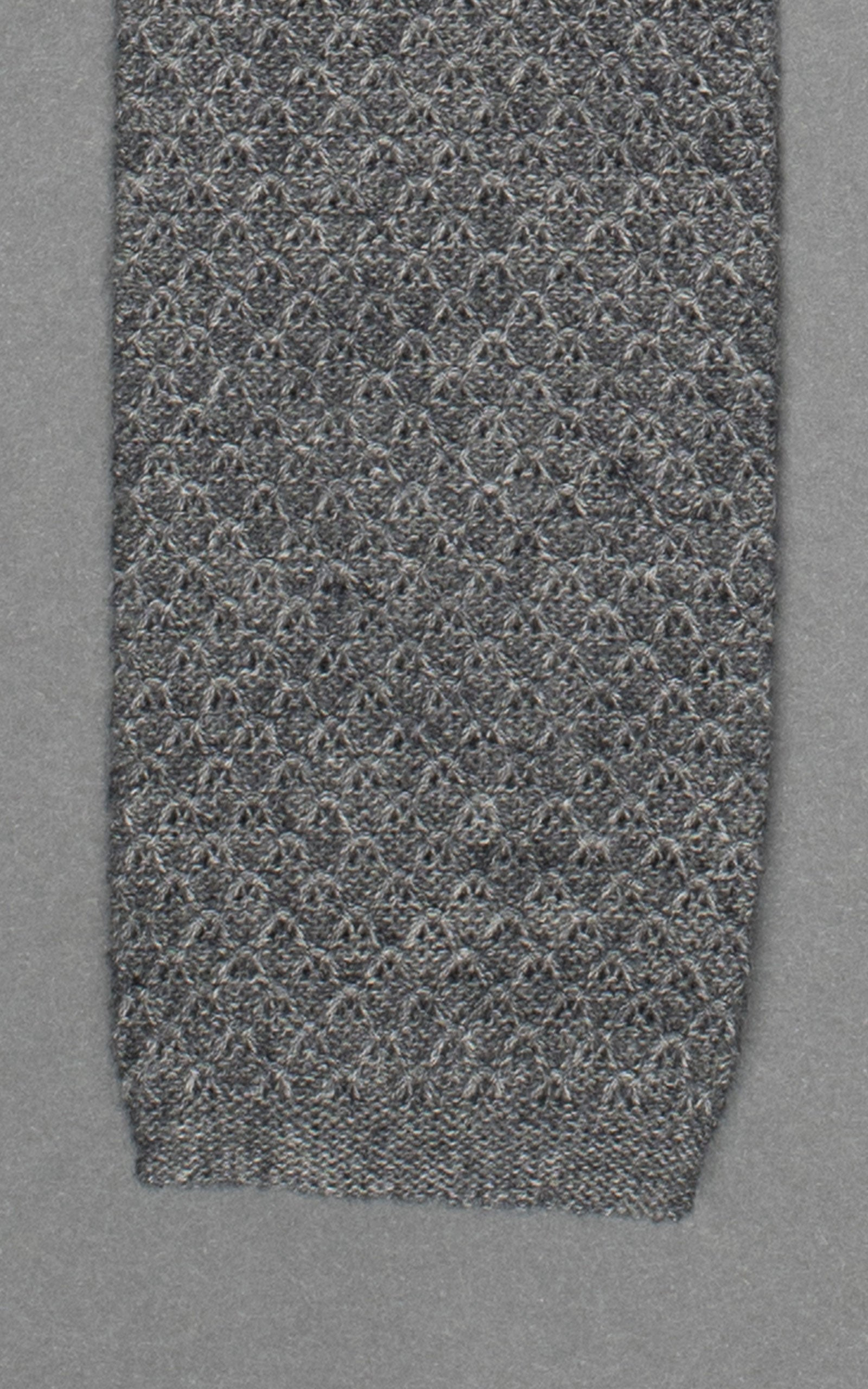 Gray Knitted Cotton Tie