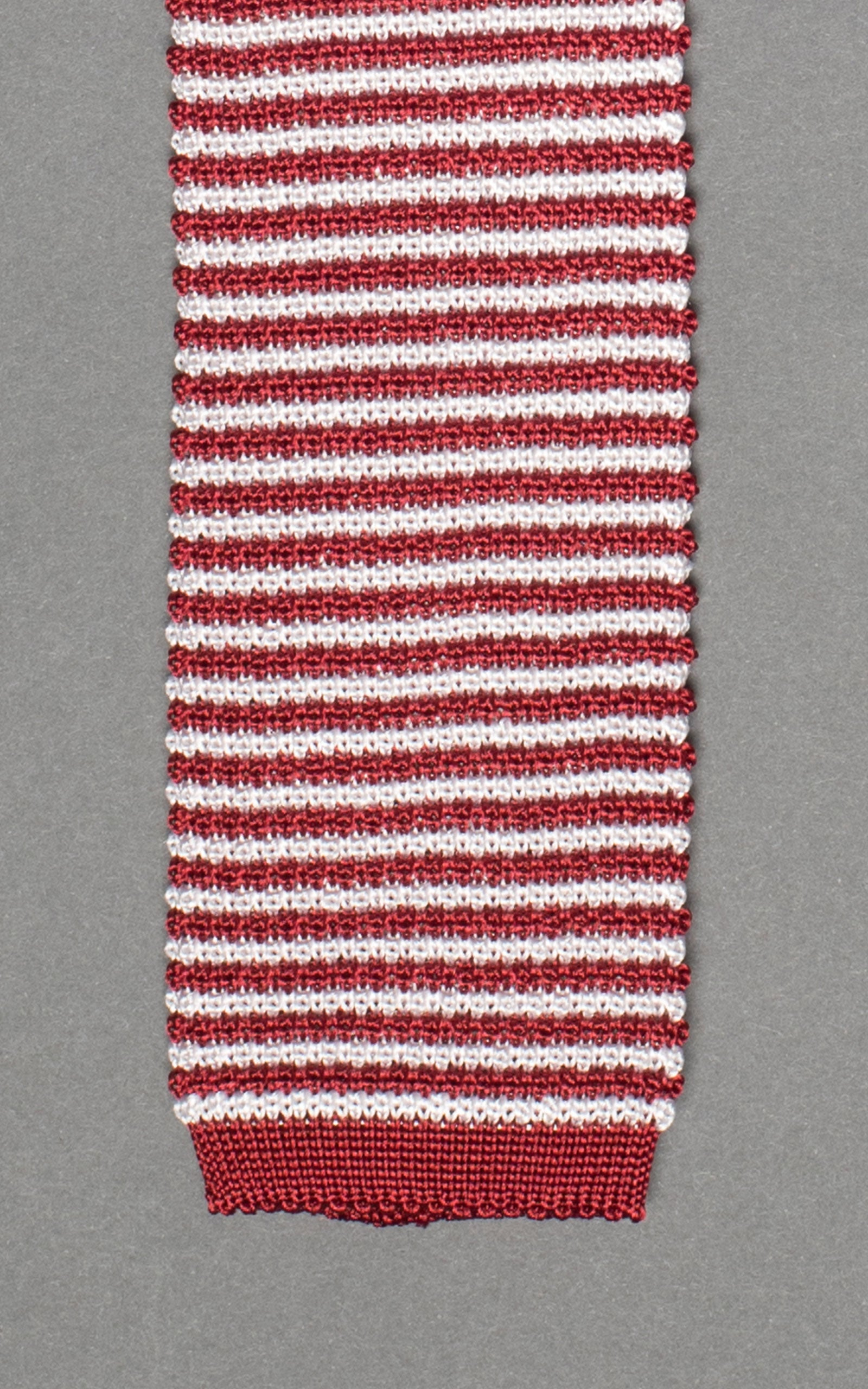 Red Stripes Knitted Silk Tie