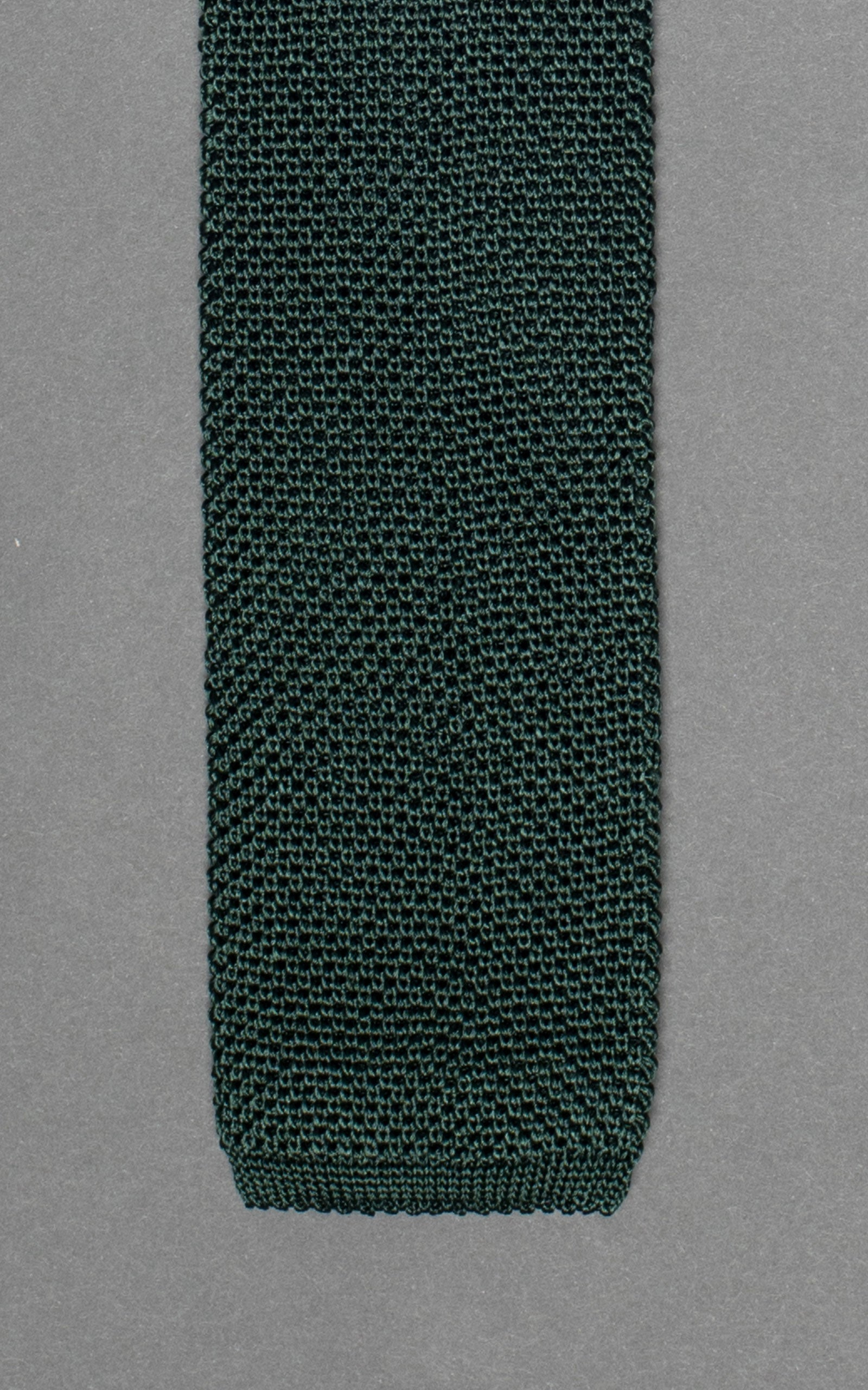 Forest Green Winter Knitted Silk Tie