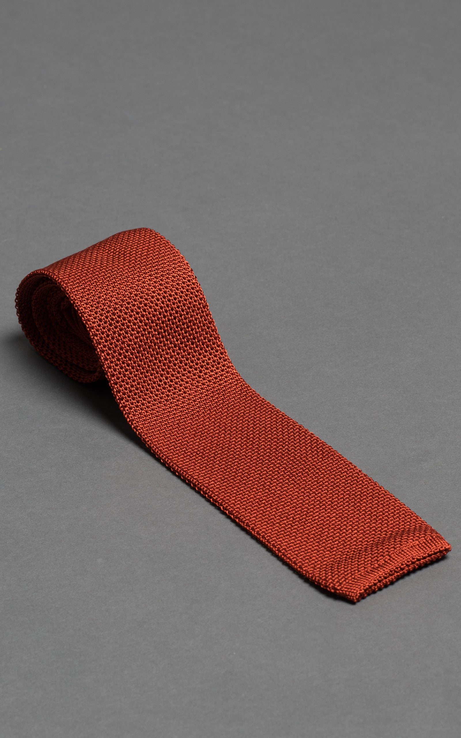 Orange Summer Knitted Silk Tie