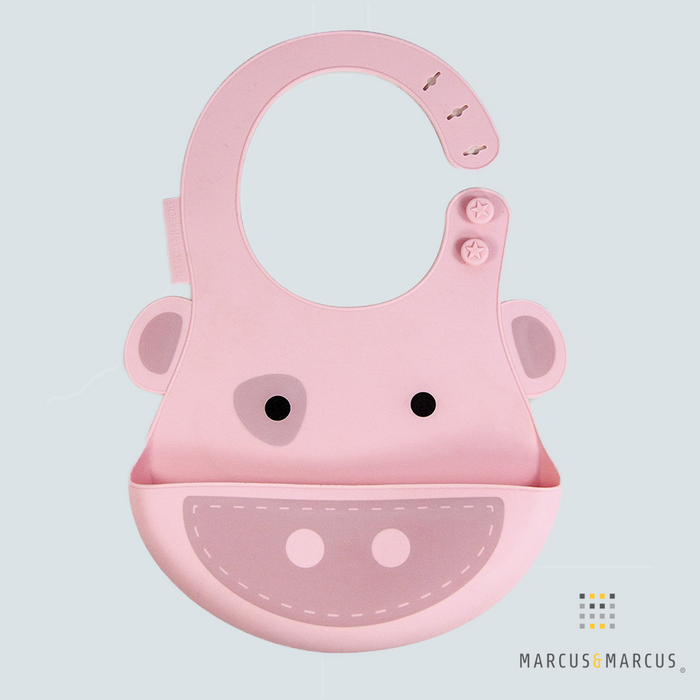 Pokey the Piglet Adjustable Silicone Baby Bib