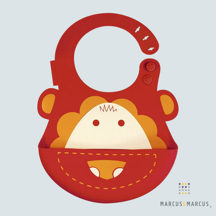 Marcus the Lion Adjustable Silicone Baby Bib